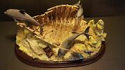 Lenox Dolphin Hide Away Figurine Sunken Ship Play Ground For Dolphins 2001