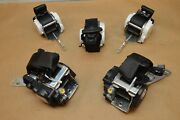 2012 F01 Bmw 740i Front Left And Right With Rear Set Of Seat Belts Set Of 5 Black