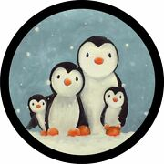 Penguin Family Spare Tire Cover Any Size, Any Vehicle, Camper, Trailer, Rv