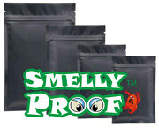 4000 Pcs. 4mil Matte Black 3andrdquo X 4.5andrdquo Smelly Proof Ziplock Bags Stink Proof Pouch