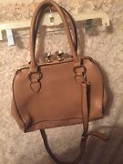Beautiful Shoulder Straps With Diamonds Snap Closed Carmel Color No Brand