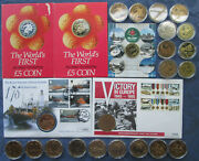 Isle Of Man Andpound5 Pound Crown Commemorative Coins Bu And Proof
