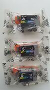 Bci-16 3 X Canon Tri-colour Ink Cartridges, Bci-16 Genuine For Selphy Ds700