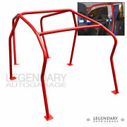 For 99-05 Gti Golf 1.8t Vr6 6 Point Anti Roll Cage Bolt On Brace Chassis Red