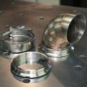 3 Welded Pie Cuts V-band 304 Stainless Elbow 90 Degree Bend Turbo Down-pipe