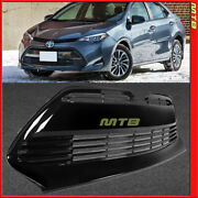 Le Style Lower Front Grille 2017-2019 Corolla Center Bumper Grill Insert Black