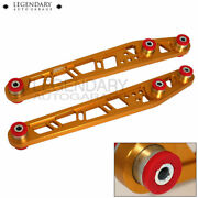 For 1996-2000 Honda Civic Aluminum Rear Lower Control Arm Lca Gold Red Jdm Sport