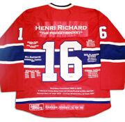 Henri Richard Career Jersey 16 Of 199 - Signed - Montreal Canadiens