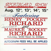 Maurice And Henri Richard Autographed Vintage Sign - Montreal Canadiens