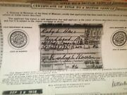 1947 Olds Coupe Historical Paperwork Document Hot Rod Project