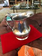 Silver Plated On Copper Water Pitcher By National