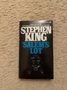 Salemand039s Lot By Stephen King Paperback Signed Vintage And Rare