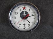Vintage Signed Russian Military Submarine Clock Excellent Qualitynice Movement