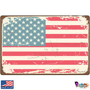 Rugged American Flag Nostalgic Signs And Plaques