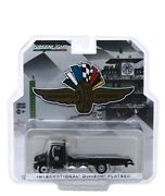 Greenlight 1/64 International Durastar Flatbed Tow Truck Black Diecast 30035