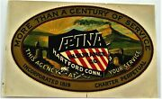 Fantastic Patriotic Vintage Decal For Aetna Insurance Co. W/ Us Shield