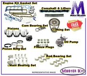Chevy Gm 292 Omc Mercruiser 170/200 Marine Engine Master Kit Cam Pistons Std Rot
