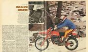 1979 Can-am 250 Qualifier Motorcycle Dirt / Road Test 8-page Article