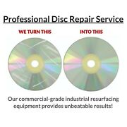 50 Disc Repair Service Cd Xbox Playstation Wii Games Dvd With Eco Master