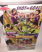 Soccer Floor Puzzle Melissa And Doug Lot Of 2 2 X 3 Feet 48 Pieces New