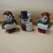 Collectible Vintage Set Of 3 Lady Bug Wings Figurine Made In Occupied Japan