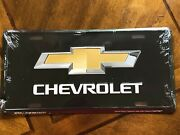 Chevrolet Bowtie Metal License Plate Tag New Embossed Garage