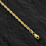 14k Solid Yellow Gold Rope Pendant Link Chain/necklace 24 4mm 32 Grams Sr030