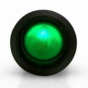 Illuminated Rocker Switch 6 - Green 20a/12vdc