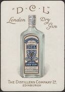 Playing Cards Single Card Old Antique Wide Dcl London Dry Gin Advertising Bottle