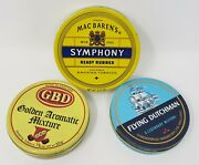 3pc Lot Of Vintage Mac Baren's, Flying Dutchman, And Gbd Tobacco Tins Open And Clean