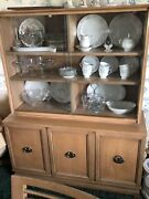 Mid-century American Of Martinsville Dining Table W/2 Chairsbuffetchina Hutch