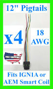 4x Fits Ign1a Aem Ignition Smart Coil Connector 12 Pigtail Plug Harness 30-2853