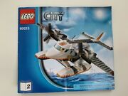Lego 60015 Coast Guard Plane Replacement Manual Directions Instructions Booklet