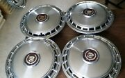 1985 1986 Cadillac Deville Fleetwood Hubcaps Wheel Covers