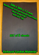 5 Exhaust Gasket Material Sheets 20x30cm 1.5mm Thick Reinforced With Steel