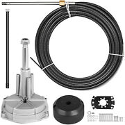 Ss13716 Rotary 16ft Outboard Steering System Kit Safe-t Qc Stainless Steel Cable