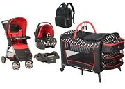 Disney Baby Combo Set Stroller With Car Seat Playard Mickey Mouse Travel System