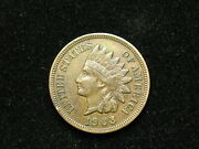 Blow Out Sale Au 1903 Indian Head Cent Penny W/ Full Liberty And Diamonds 108v