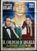 The Harder They Fall - Bogart 1956 Italian 1p Movie Poster