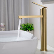 Bathroom Basin Sink Faucet Brass Deck Mounted Tap Single Handle Hot Cold Mixer