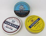 3pc Lot Of Flying Dutchman And Mac Baren's Plum Cake And Symphony Tobacco Tins
