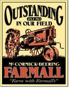 Mccormick-deering Farmall Outstanding In Our Field Since 1923 Tin Sign