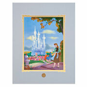 Disney Cinderell's Dream Castle  Matted Poster By Larry Nikolai Brand New