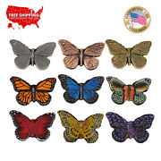 Creative Pewter Designs Monarch Butterfly Lapel Pin Or Magnet, A040