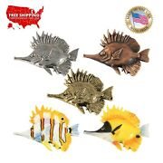 Creative Pewter Designs Butterfly Fish Lapel Pin Or Refrigerator Magnet, S089