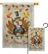 Eat More Garden Flag Fall Thanksgiving Small Decorative Gift Yard House Banner