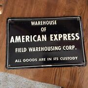 Rare Vintage 1920s American Express Wharehouse Sign Clean Rare