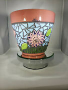 Mosaic Flower Pot - Handmade Tiles Look Great In Your Home F254