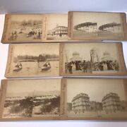 Rare Stereograph Stereoview Antique Photo Cards, Nyc, Lot Of 7