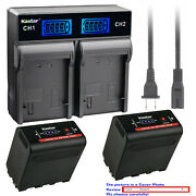 Kastar Battery Lcd Rapid Charger For Sony Np-f970 Sony Gv-d800 Gv-d900 Gv-hd700e